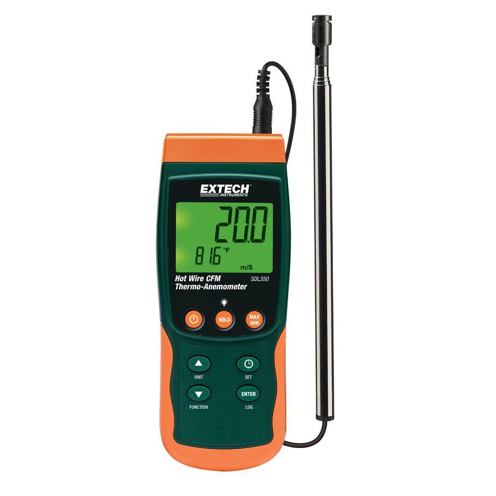 Hot Wire CFM Thermo-Anemometer SD Logger